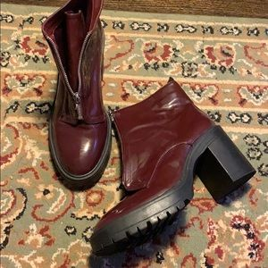 Patent combat boots
